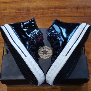 Converse High Top Patent Leather Sneakers Size 3